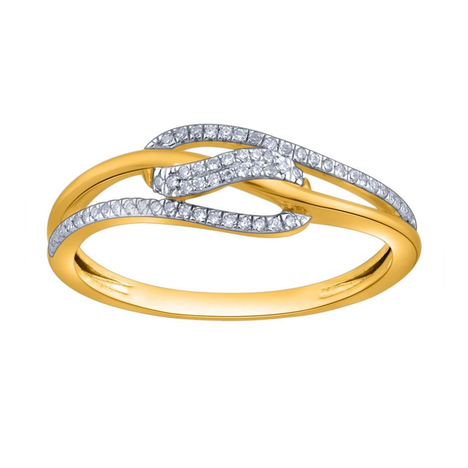 9ct Yellow Gold, 0.09ct Diamond Ring