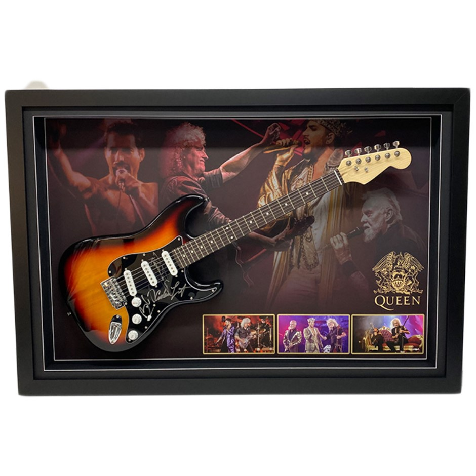Queen Hand Signed & Framed Full Size Electric Guitar