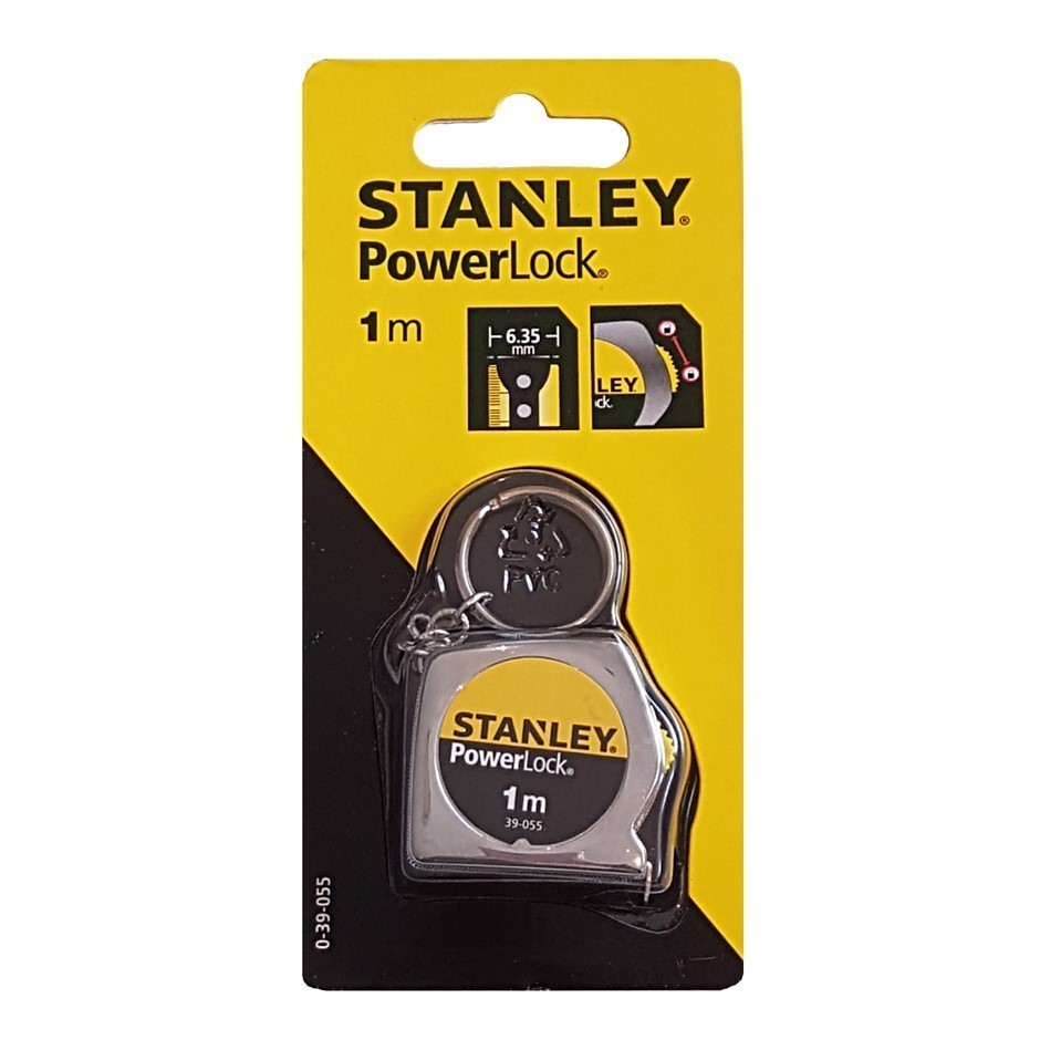 2 x STANLEY Powerlock Key Ring Tape Measures 1M. Buyers Note - Discount Fre