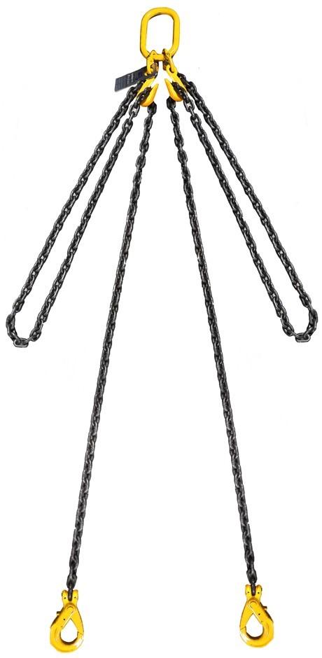 Lifting Chain Sling, 2Leg, WLL 3500kg, 8mm Chain x 3M c/w Clevis Self Locki