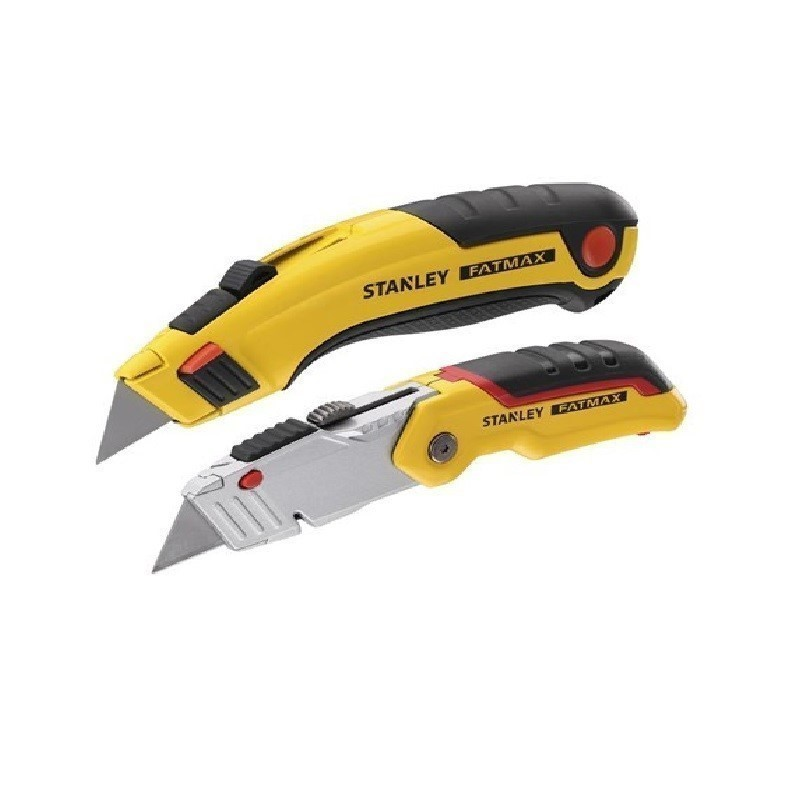 STANLEY FatMax Twin Pack Retractable Utility Knife Set. Buyers Note - Disco