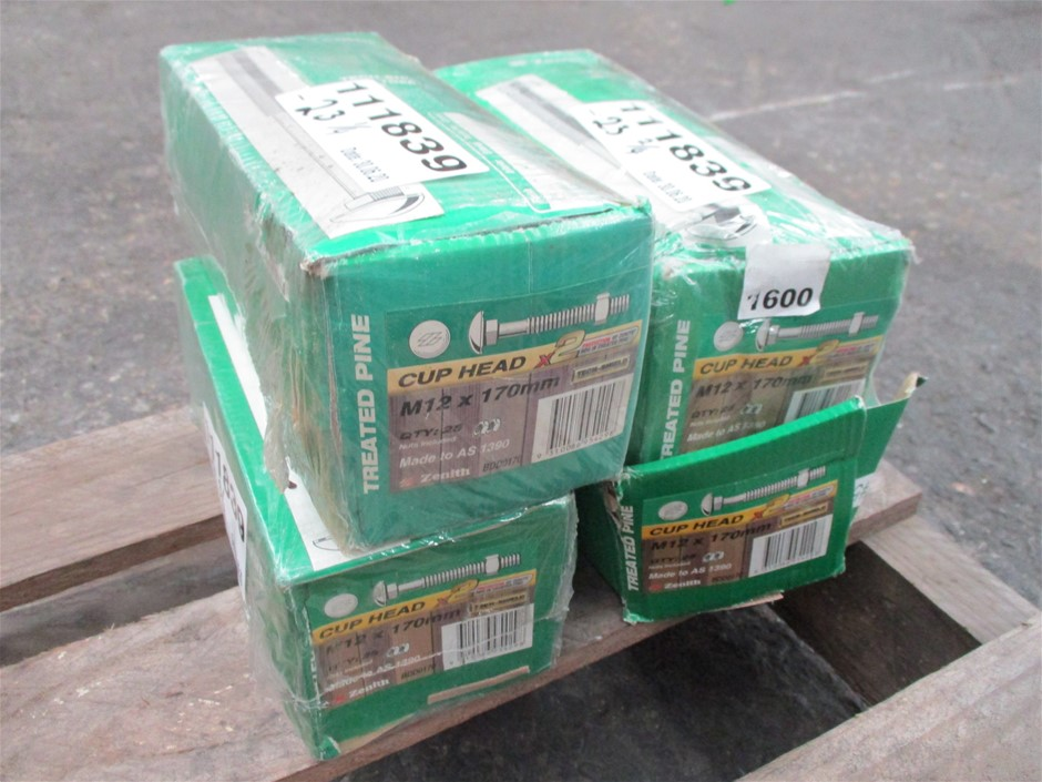 4x Boxes Cup Head Bolts