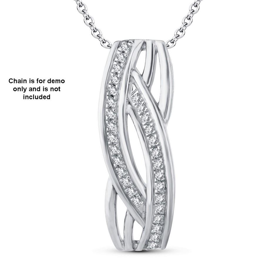 9ct White Gold, 0.07ct Diamond Pendant