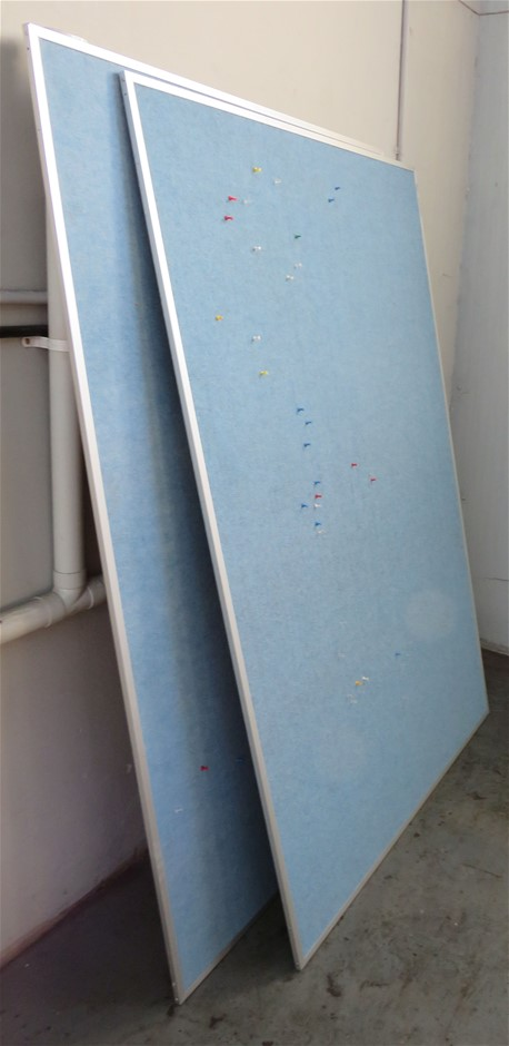Quantity (5) Assorted White & Pin Boards