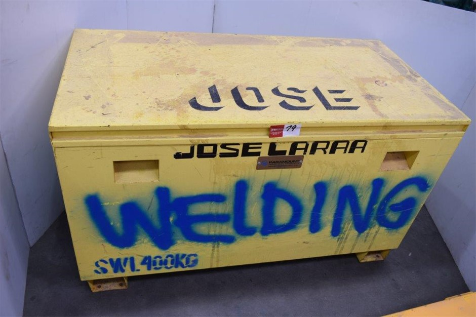 """""""Paramount"""" Steel Framed Site Tool Box"""