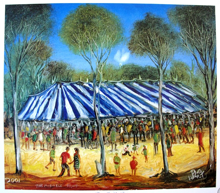 PRO HART (1928-2006) LARGE AUTHENTIC LIMITED LITHOGRAPH by Pro Hart