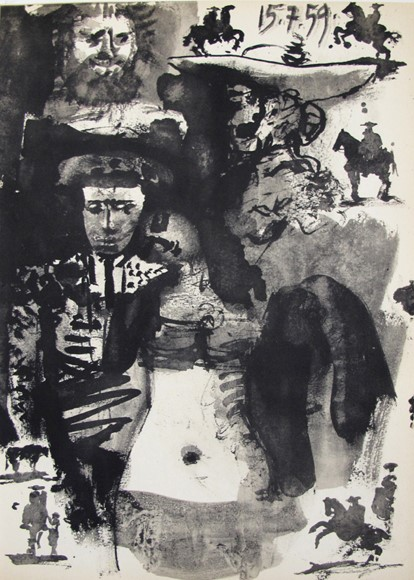 PABLO PICASSO (b.1881-1973) VINTAGE 1961 Picasso Authorised Lithograph