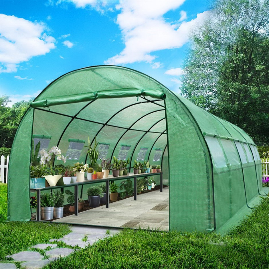 Greenfingers Greenhouse Garden Shed Replacement *Cover Only* 6X3X2M