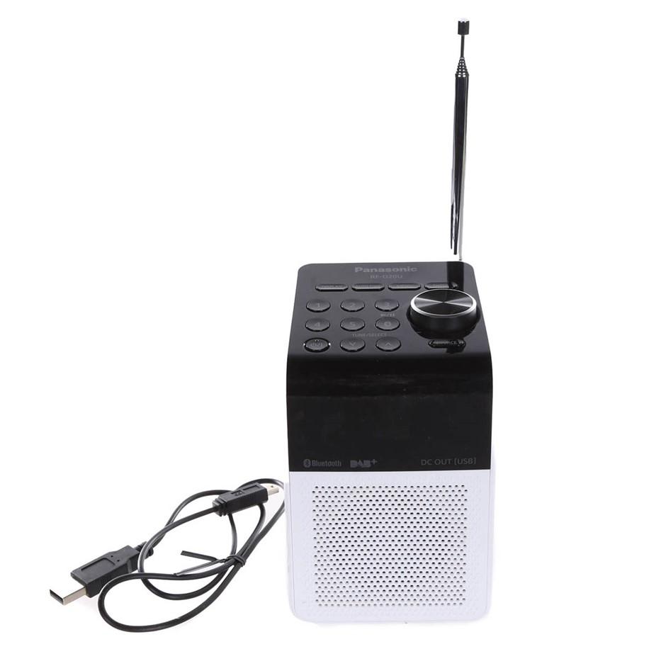 PANASONIC DAB-FM Bluetooth Digital Radio, Model RF-D20U, White N.B Conditio