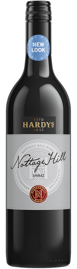 Hardys Nottage Hill Shiraz 2017 (6 x 750mL), SE AUS.
