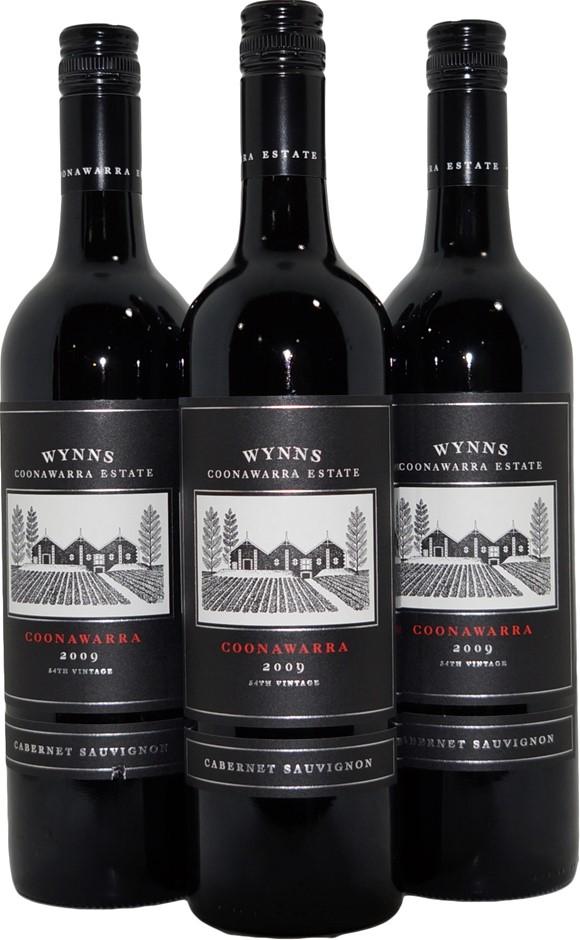 Wynns Black Label Cabernet Sauvignon 2009 (3x 750mL), SA, Screwcap.