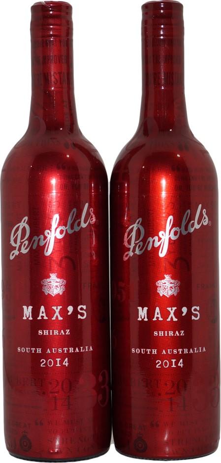 Penfolds Max's Shiraz 2014 (2x 750mL), SA, Screwcap.