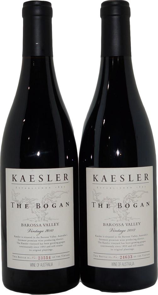 Kaesler The Bogan Barossa Valley Shiraz 2010/2012 (2x 750mL), SA, Cork.