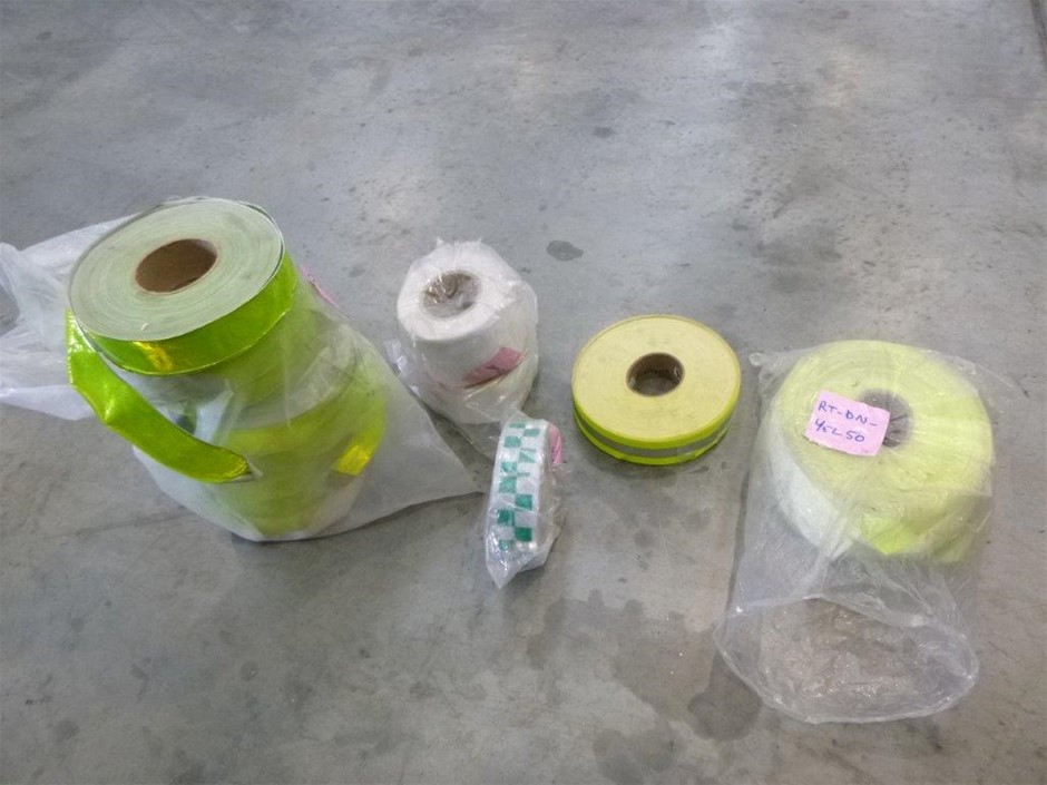 Box of Assorted Rolls of Safety Tape