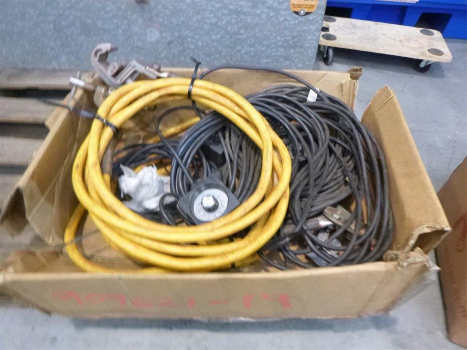 Box of Welding Leads & Accessories