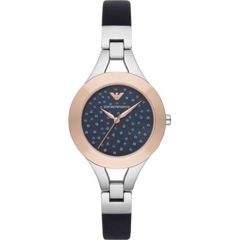 Stylish new Emporio Armarni gem dial ladies watch.