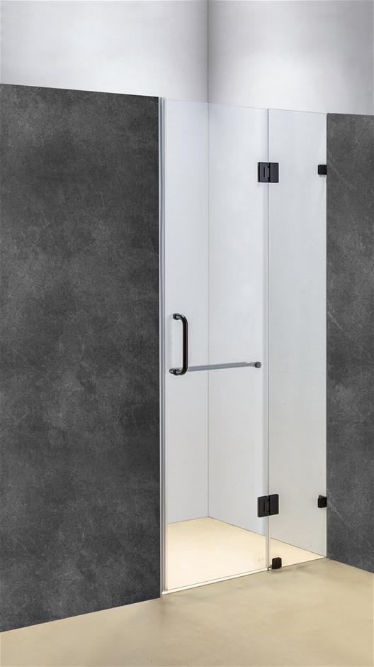 90 x 200cm Wall to Wall Frameless Shower Screen 10mm Glass Della Francesca