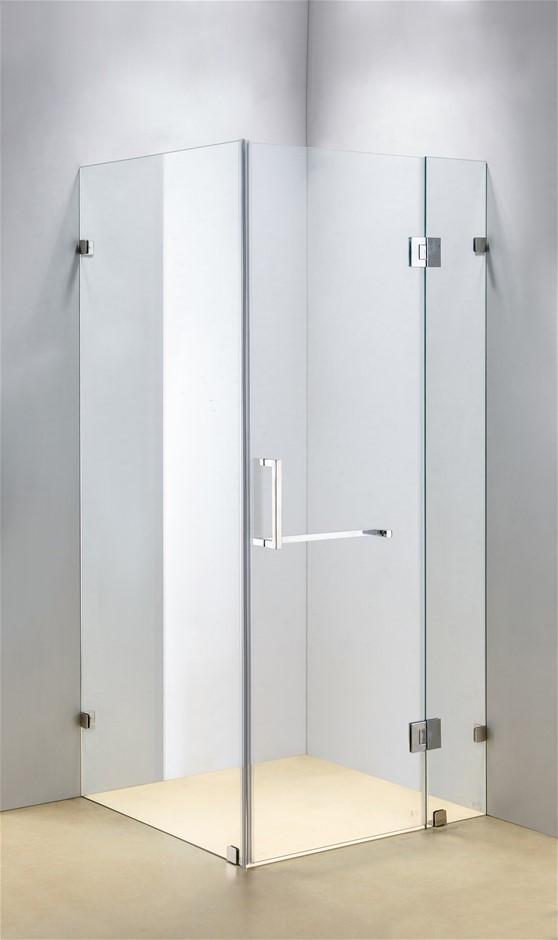 900 x 1000mm Frameless 10mm Glass Shower Screen Della Francesca