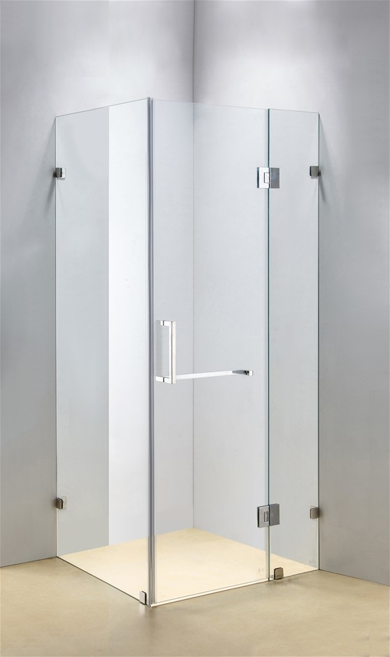 1000 x 700mm Frameless 10mm Glass Shower Screen Della Francesca
