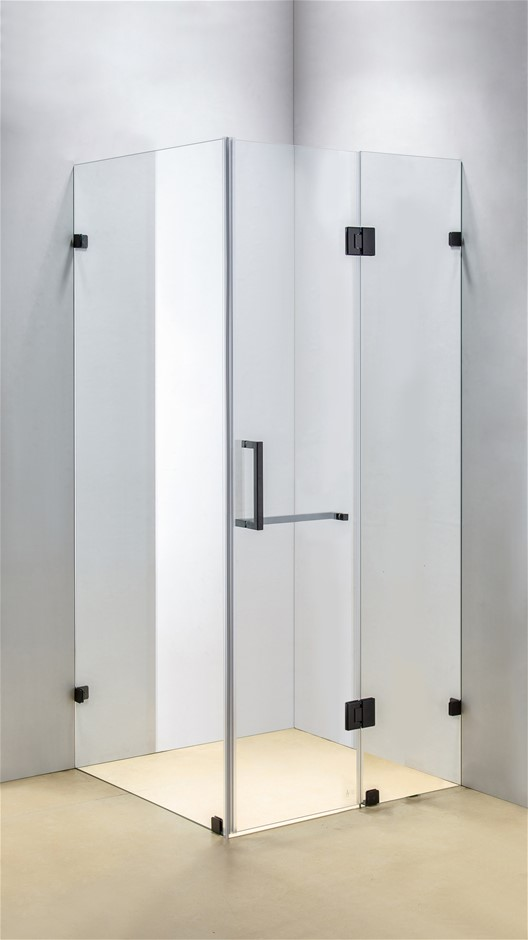 1100 x 900mm Frameless 10mm Glass Shower Screen Della Francesca