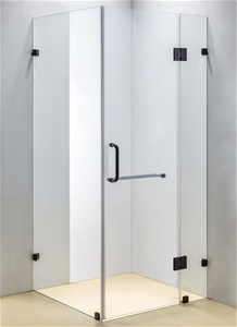 900 x 1000mm Frameless 10mm Glass Shower