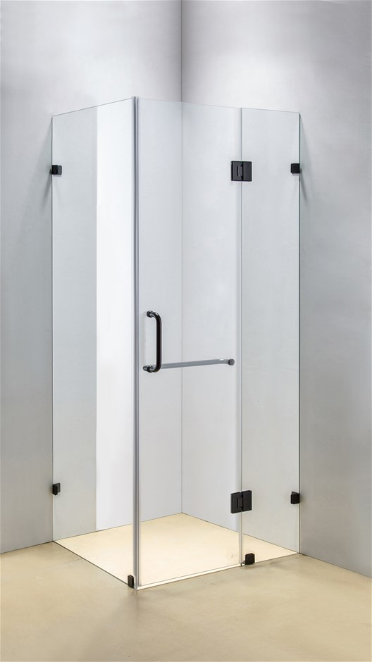 900 x 800mm Frameless 10mm Glass Shower Screen Della Francesca