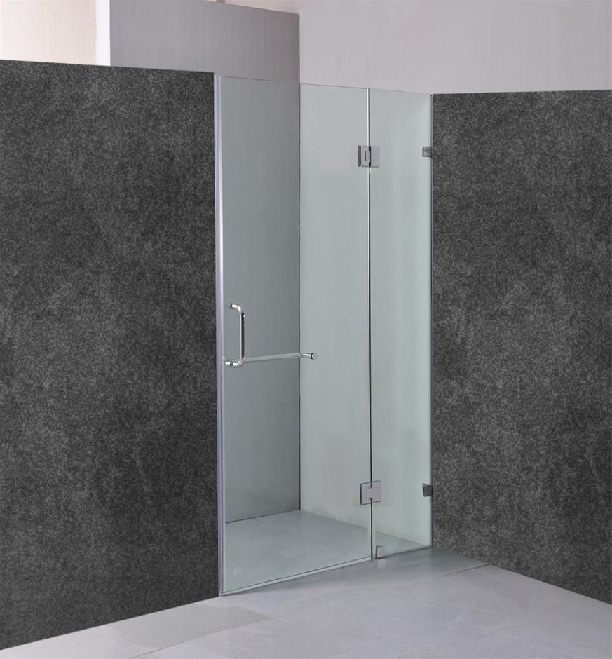110 x 200cm Wall to Wall Frameless Shower Screen 10mm Glass Della Francesca
