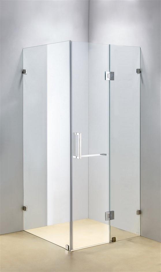 1200 x 900mm Frameless 10mm Glass Shower Screen Della Francesca