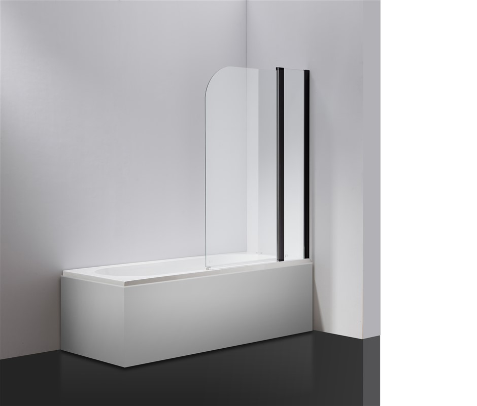 180 Pivot Door 6mm Safety Glass Bath Shower Screen 1000x1400mm