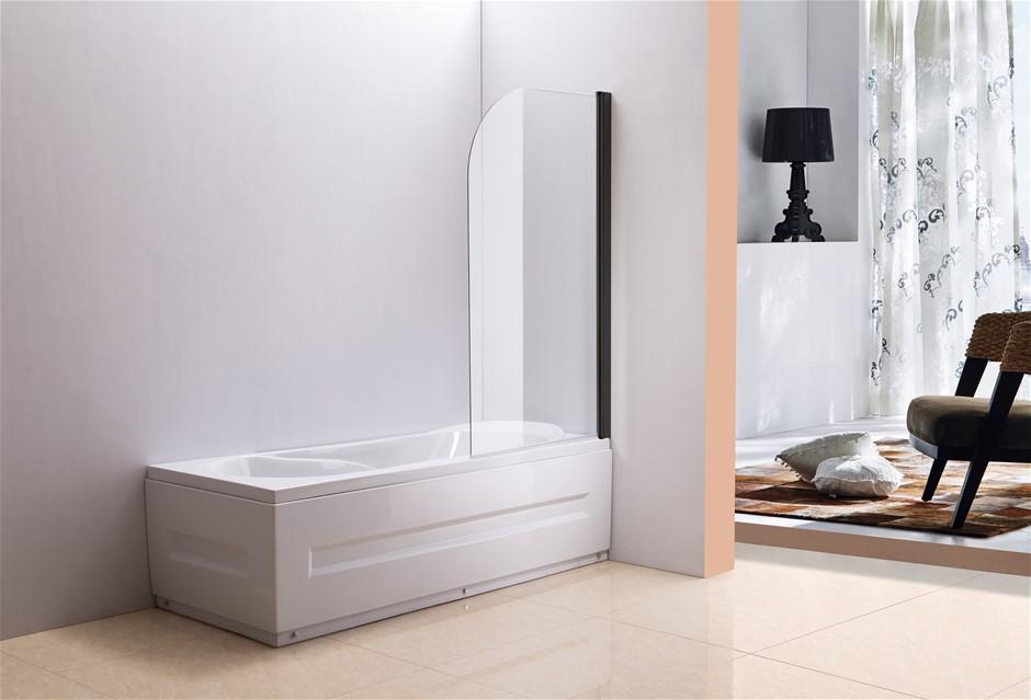 180 Pivot Door 6mm Safety Glass Bath Shower Screen 800x1400mm