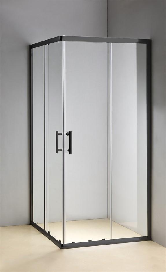 1000 x 800mm Sliding Door Nano Safety Glass Shower Screen Della Francesca