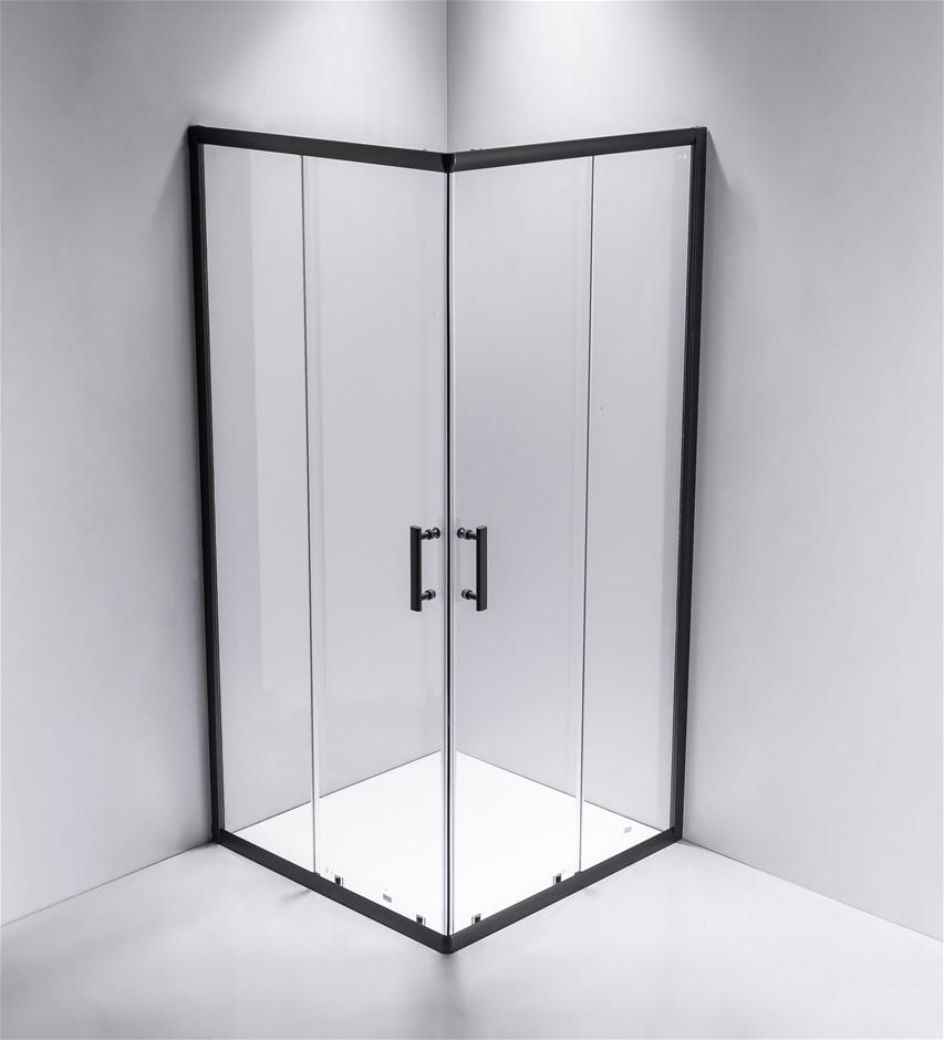 900 x 1000mm Sliding Door Nano Safety Glass Shower Screen Della Francesca
