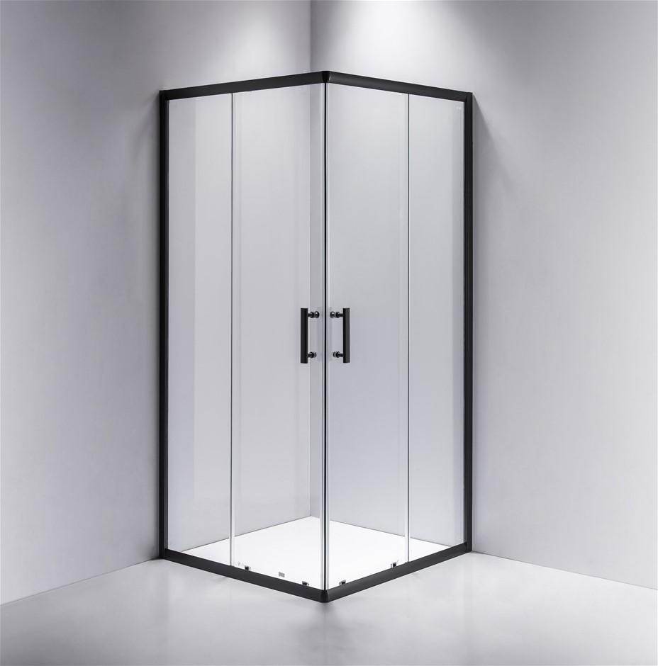 900 x 800mm Sliding Door Nano Safety Glass Shower Screen Della Francesca