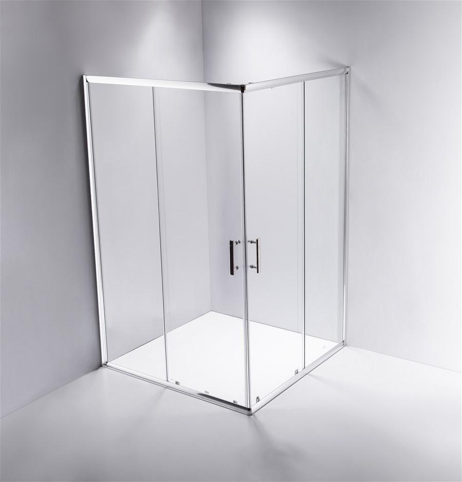 1000 x 1200mm Sliding Door Nano Safety Glass Shower Screen Della Francesca