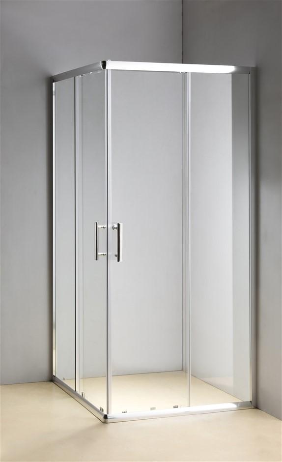 900 x 1200mm Sliding Door Nano Safety Glass Shower Screen Della Francesca