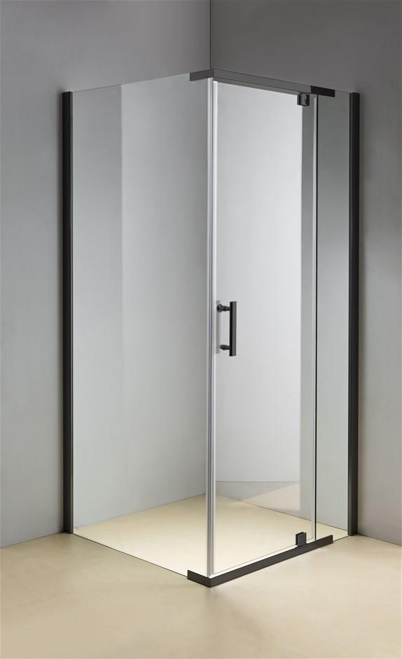 Shower Screen 1200x900x1900mm Framed Safety Glass Pivot Door