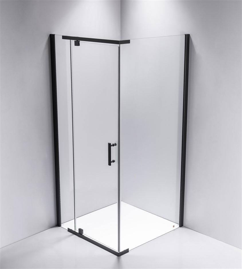 Shower Screen 900x800x1900mm Framed Safety Glass Pivot Door Della Francesca