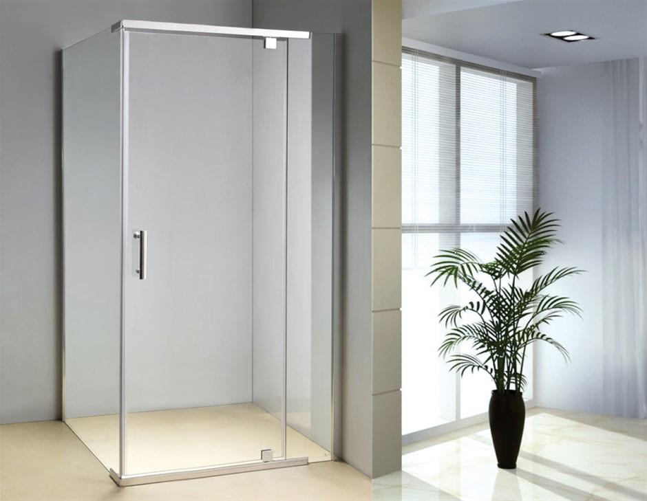 Shower Screen 1200x700x1900mm Framed Safety Glass Pivot Door