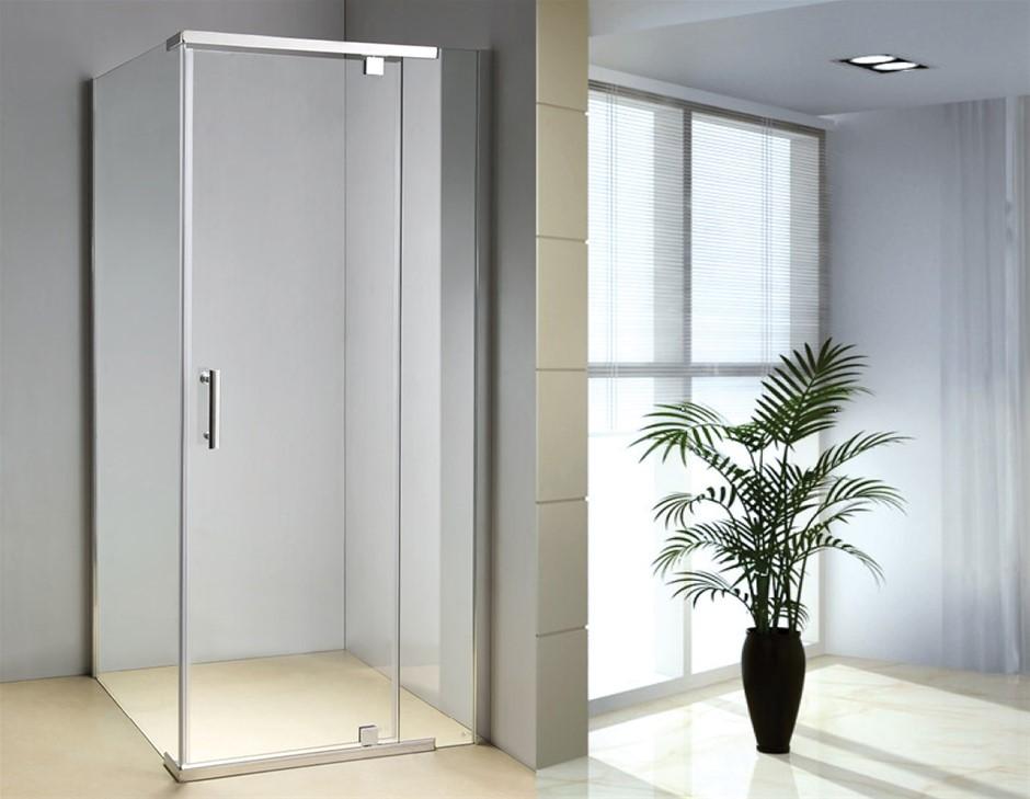 Shower Screen 1000x700x1900mm Framed Safety Glass Pivot Door