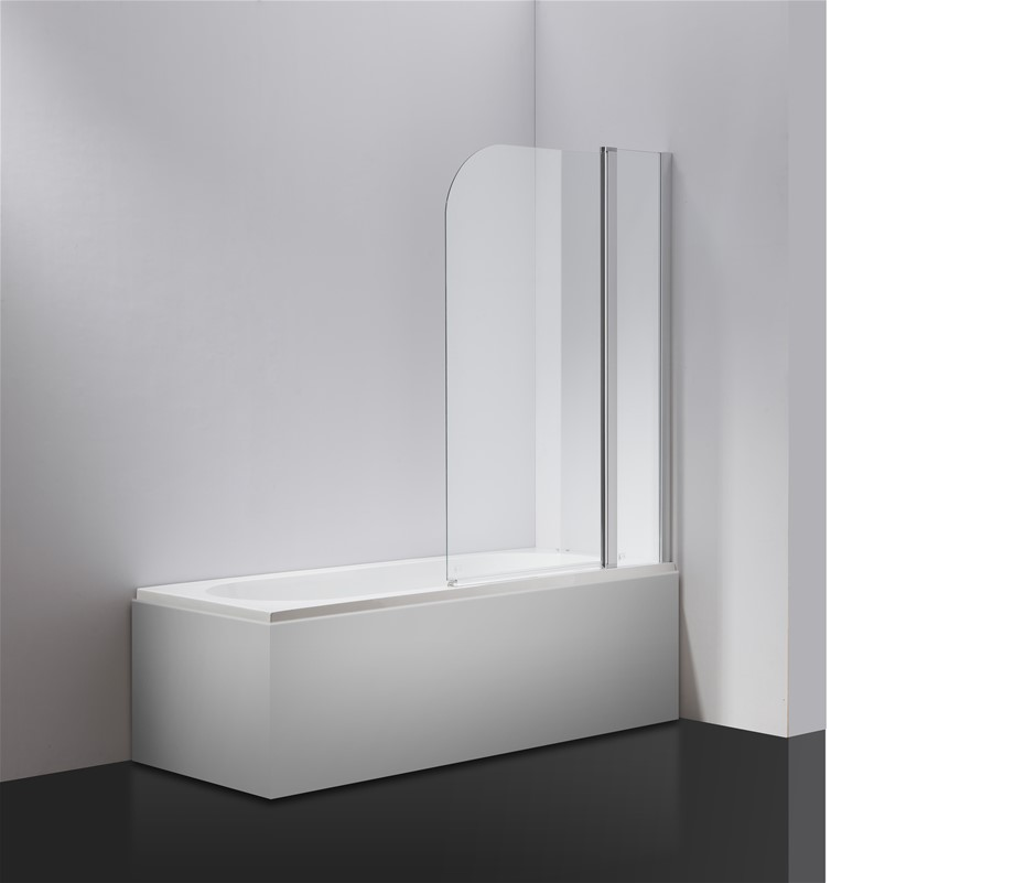 Pivot Door 6mm Safety Glass Bath Shower Screen 1000x1400mm Della Francesca