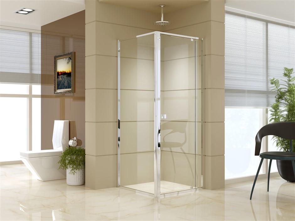 Semi Frameless Shower Screen (74~82)x 195cm & (77~80)x 195cm Side