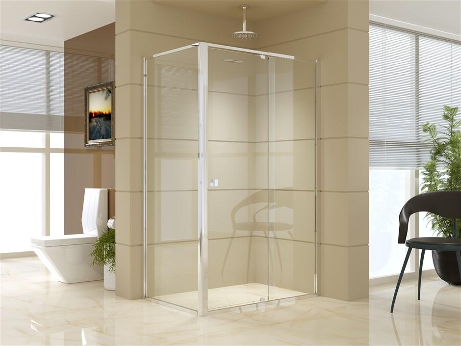 Semi Frameless Shower Screen (114~122)x 195cm & (98~101)x195cm Side