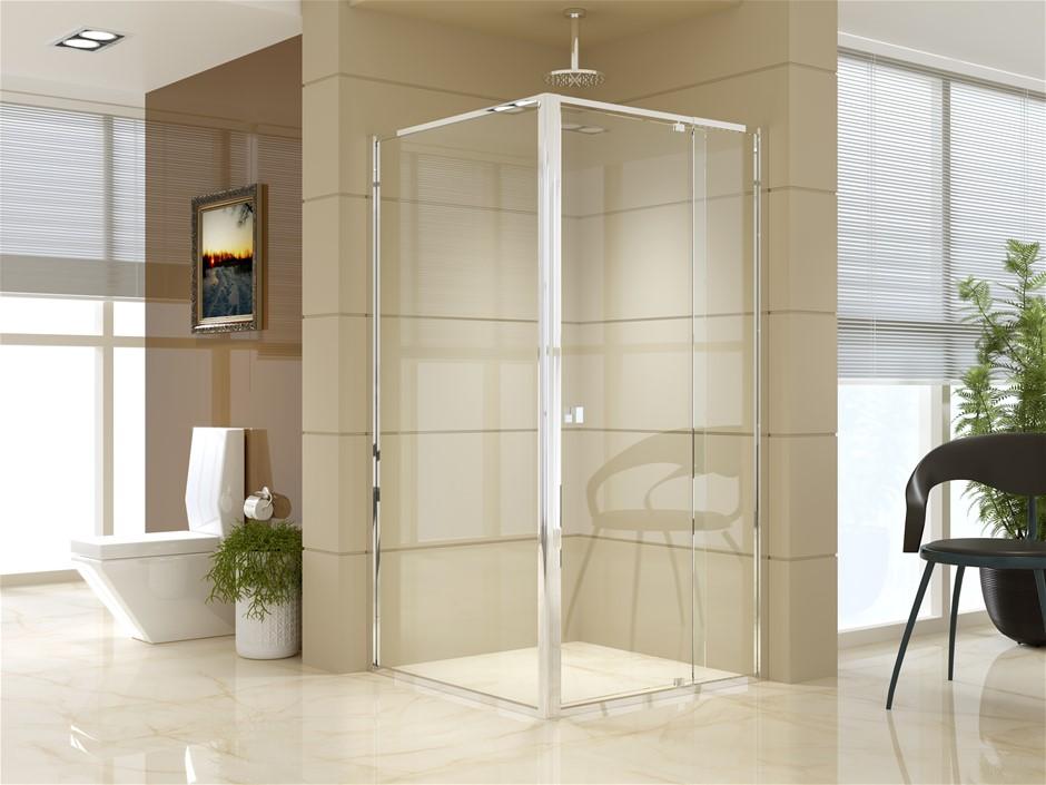 Semi Frameless Shower Screen (98~106)x 195cm & (98~101)x 195cm Side