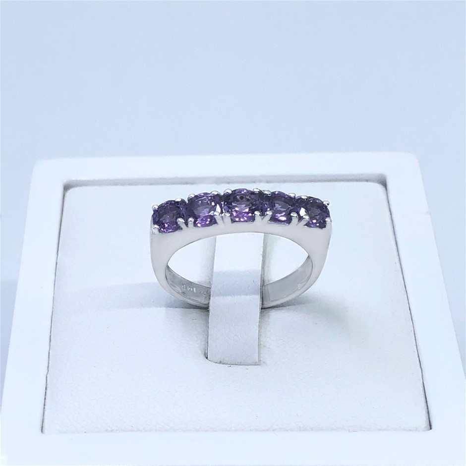 Elegant 925 Sterling Silver 1.47ct Amethyst Ring