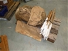 Pallet of Hessian Bags and Marking Stakes