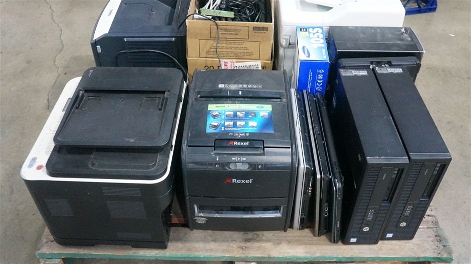 Pallet of Assorted Desktops, Laptops, Printers and Other Hardware