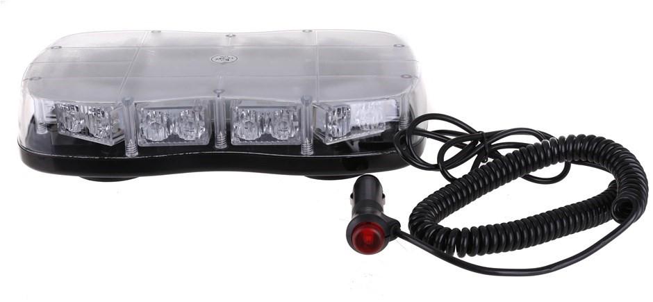 Slimline LED Amber Strobe Light, 12V & 24V, Magnetic Base, 300mm (L) x 160m