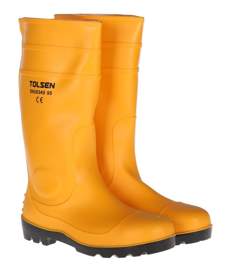Pair TOLSEN Safety Gum Boots, UK Size 7, US Size 8. Buyers Note - Discount