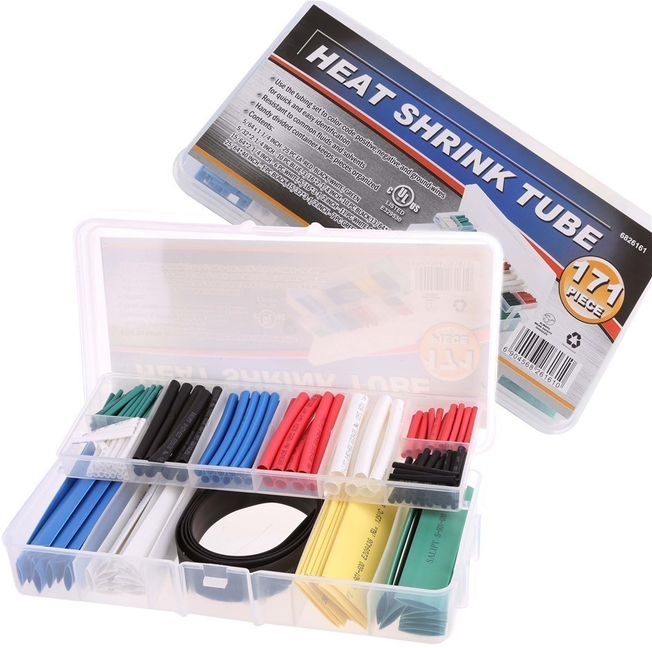 171pc Heat Shrink Tube Kit. Buyers Note - Discount Freight Rates Apply to A