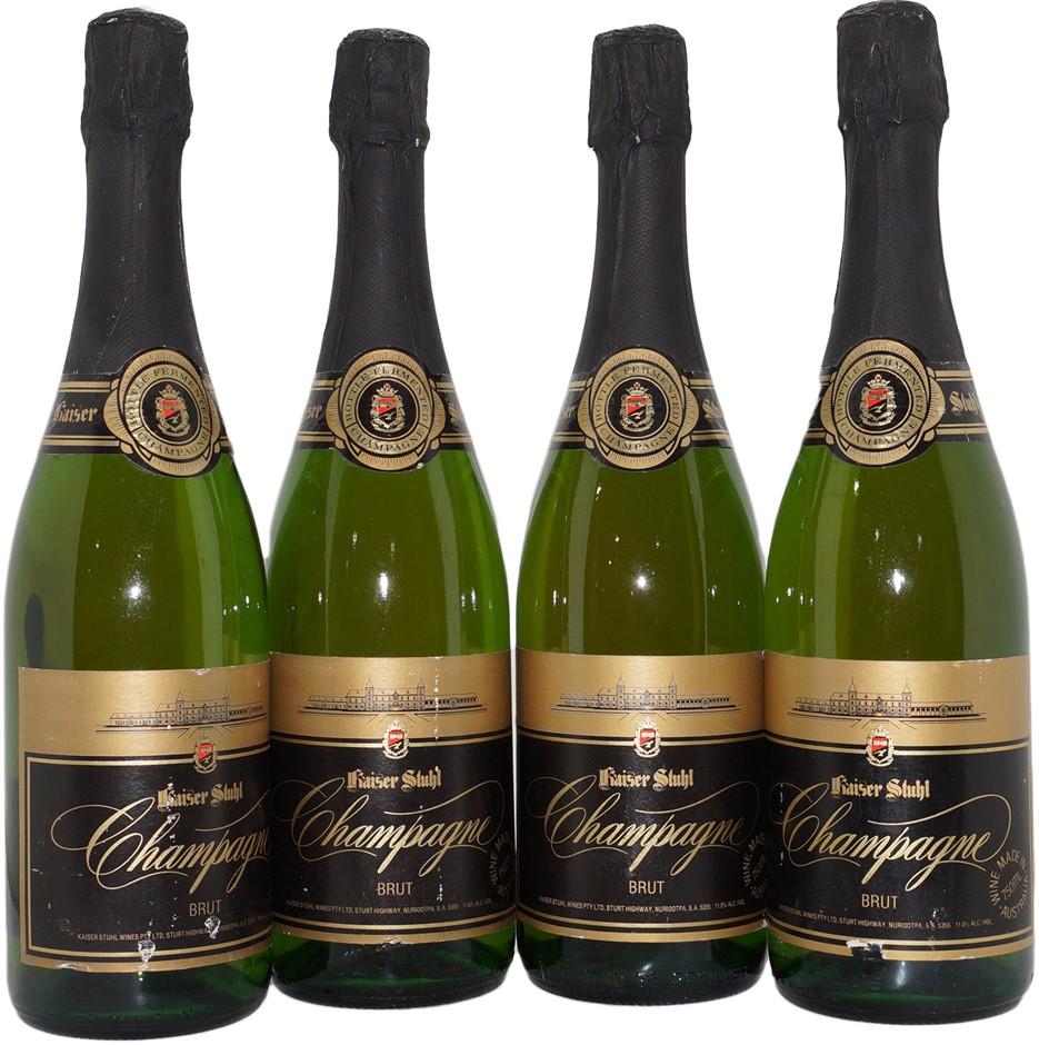 Kaiser Stuhl Champagne Brut Sparkling NV (4x 750mL), Barossa. Cork.